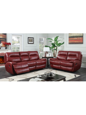 Bailey 3str 2str Red Leather Recliner Leather Suites
