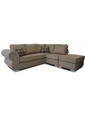 Rio Right Hand Formal Back Corner Sofa (Including Footstool) Sofas And Chairs