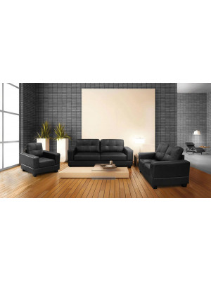 Jerry 3+2 Leather Sofas Sofas And Chairs