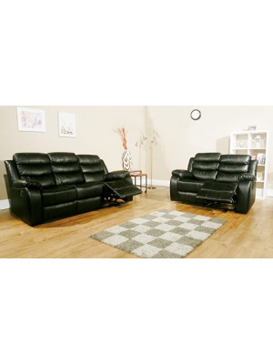 Vista Leather Air Recliner 3+2 Sofa Set Sofas And Chairs