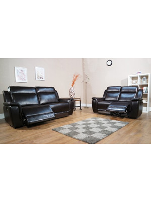 Vicino Leather Air 3+2 Recliner Sofa Set Sofas And Chairs