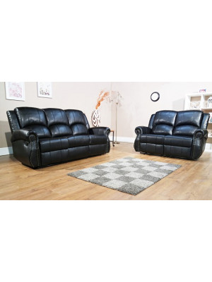 Studio Leather Air Recliner 3+2 Sofa Set Sofas And Chairs